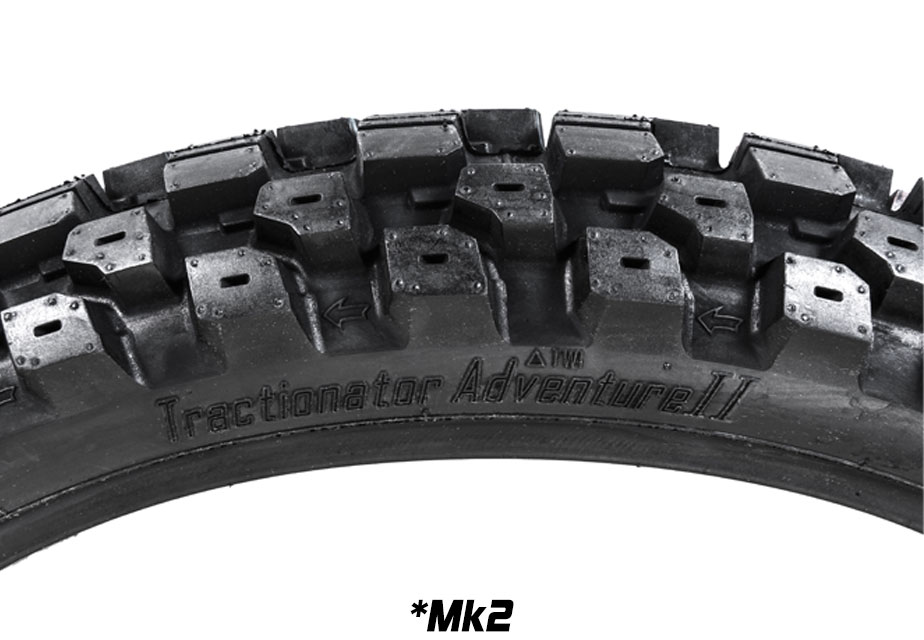 Tractionator Adventure Front Detail Mk2