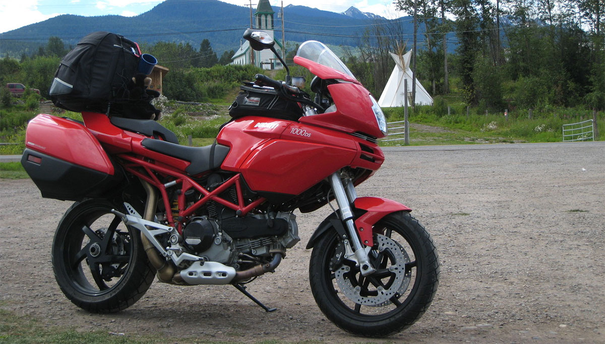 Ventura Motorcycle Luggage Rack System Mounted On A Ducati Multistrada